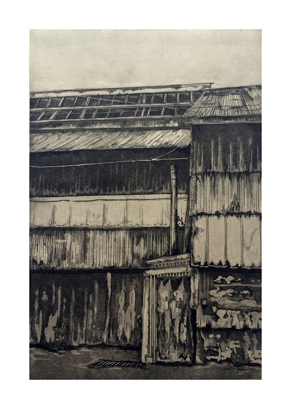 Emily Reinauer Etchings Etching, Aquatint, Chine-Collé