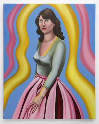 Emily Roz Studio oil on wood panel, 32 x 40 inches
