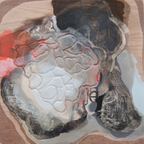 Sediment Songs oil and acrylic on carved board