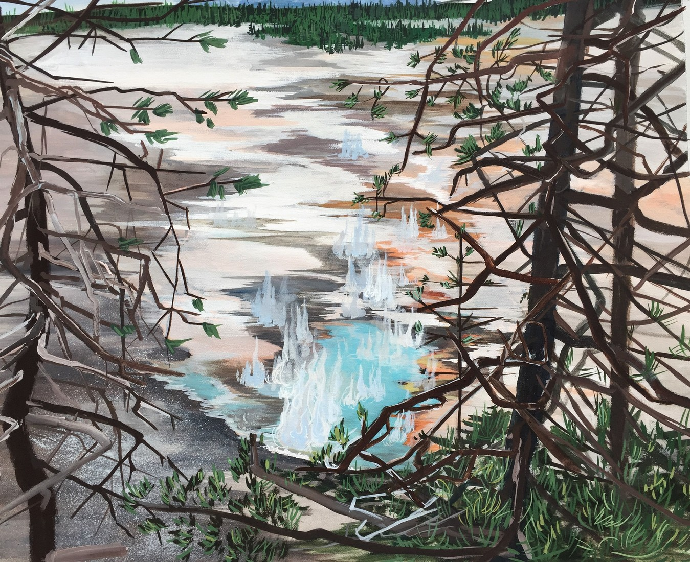 Paintings Norris Geyser Basin (Yellowstone)