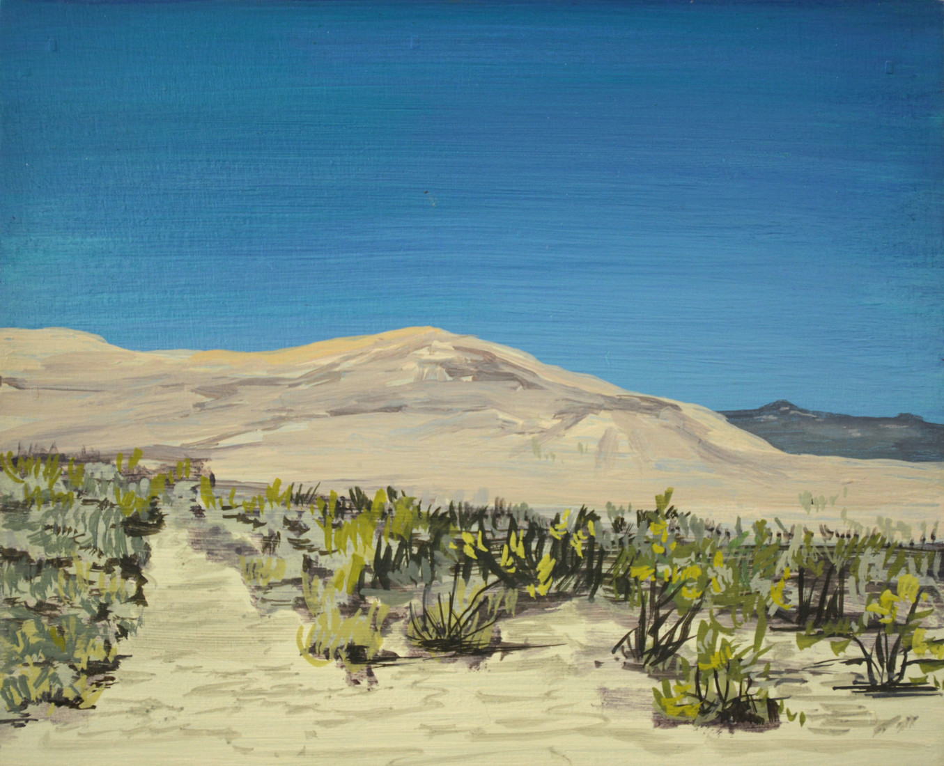 Paintings Sand dune on the way to Joshua Tree
