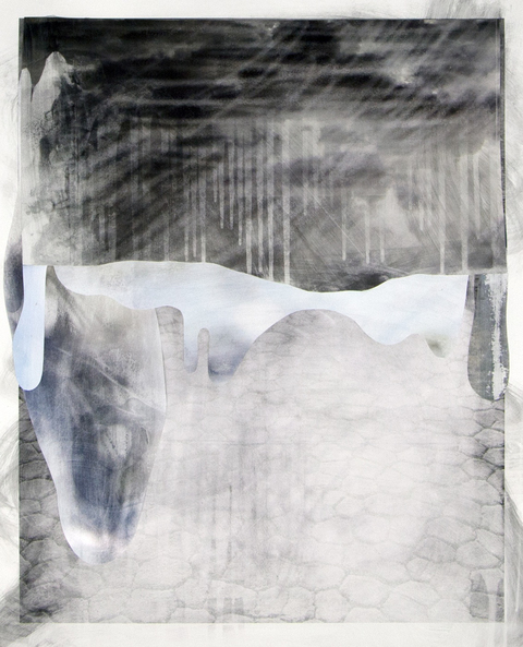 Erik Beehn From Where I Stand Photographic collage on paper