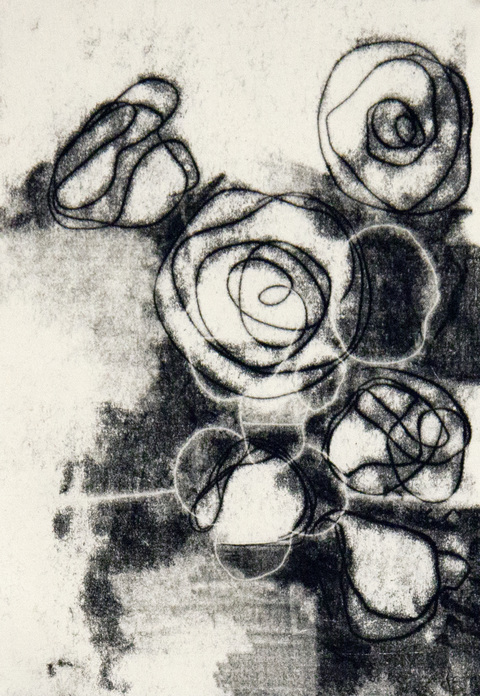 Erik Beehn Work  Trace Monotype using Intaglio Ink on Akawara Paper