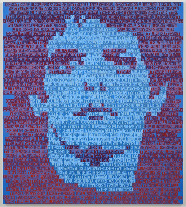 Erik den Breejen text portraits Acrylic on canvas