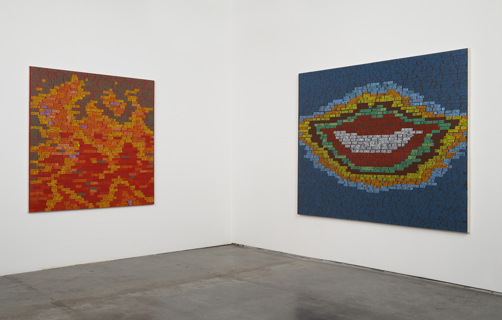 Paintings Smile (installation view)