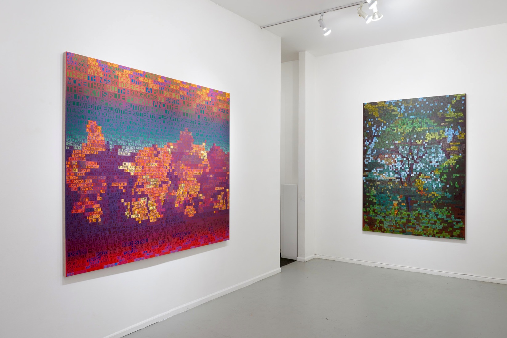 Paintings Song of the Earth (installation view, Freight + Volume, NYC)