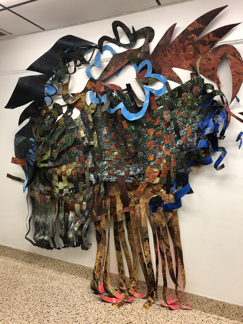 Waves and Roots of Home, Sight Specific Installation at Freeport Recreation Center, 2020