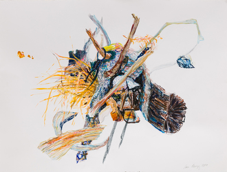 Erin Treacy Islands/Centerpieces Pencil, Conte, Marker, Acrylic on Paper
