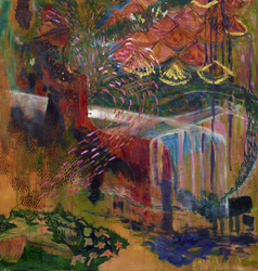 Erin Treacy Bring On the Color Oil Paint, Acrylic Paint, Pencil, Conte, Marker, and Ink & Canvas