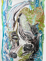 Erin Treacy Sublime - Jan 2021 Conte, Ink, and Acrylic on Paper