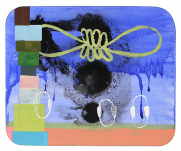 Exhibit 208 Heidi Pollard gouache on shaped rag board
