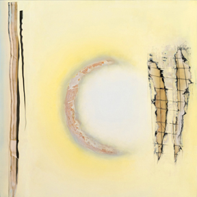 Exhibit 208 Sally Condon Oil, cold wax on panel