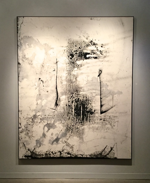 Exhibit 208 Zachariah Rieke black gesso on canvas