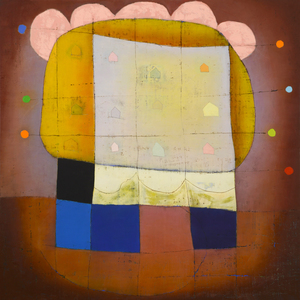 Exhibit 208 Sally Condon oil, wax, mixed media on panel