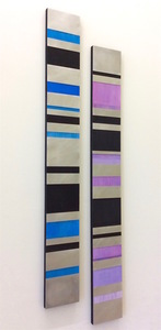 Exhibit 208 KX2: Ruth Avra & Dana Kleinman 2D aluminum and oil on wood