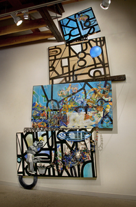 Exhibit 208 Shawn Turung mixed media assemblage