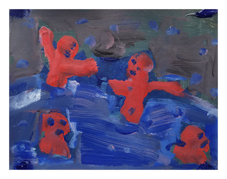 Works On Paper Red Bathers
