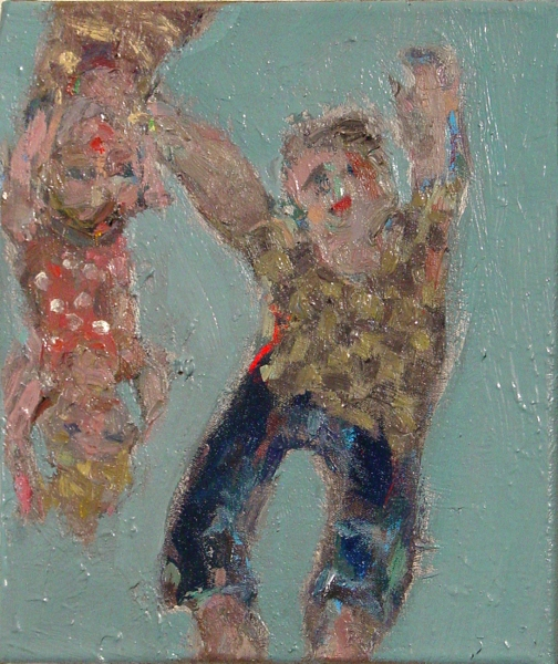 Painting Falling Youths- SOLD