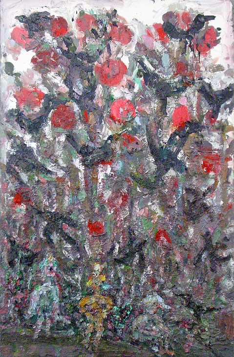Painting The Garden Wall- Sold