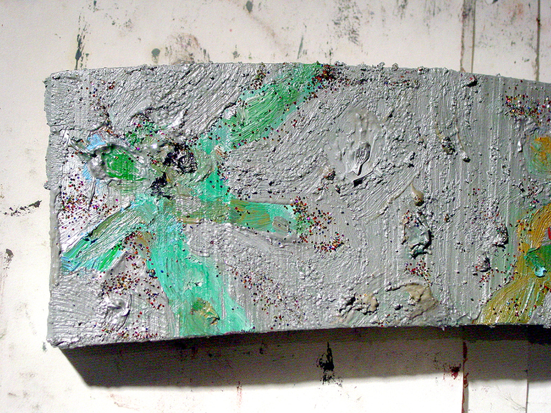 Painting Moving Wood III- Detail
