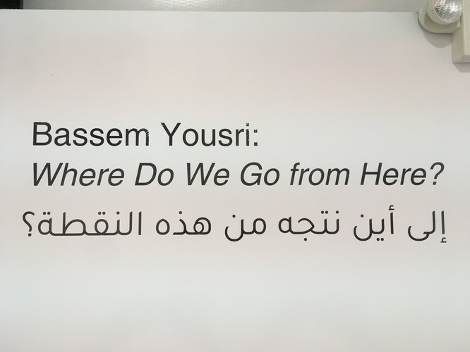 FIENDISH PLOTS Bassem Yousri: WHERE DO WE GO FROM HERE?, 1/24/20-2/23/20