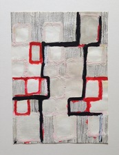 FIEROZA DOORSEN 2015 Ink, oil and acrylic on paper