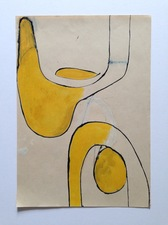 FIEROZA DOORSEN 2015 Oil and ink on paper