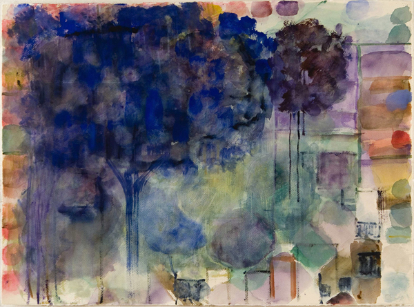 WORKS ON PAPER Blue Tree