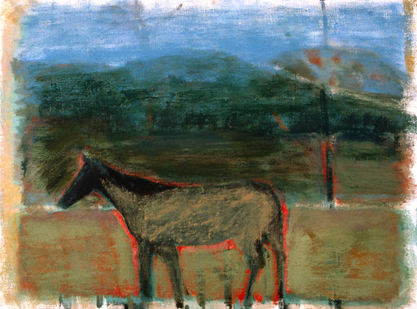 PAINTINGS 1989-1998 Horse and Mountains