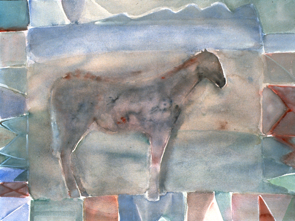 WORKS ON PAPER 1980-1990 Horse/Mountains