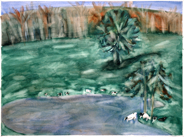 WORKS ON PAPER 1980-1990 The Pond