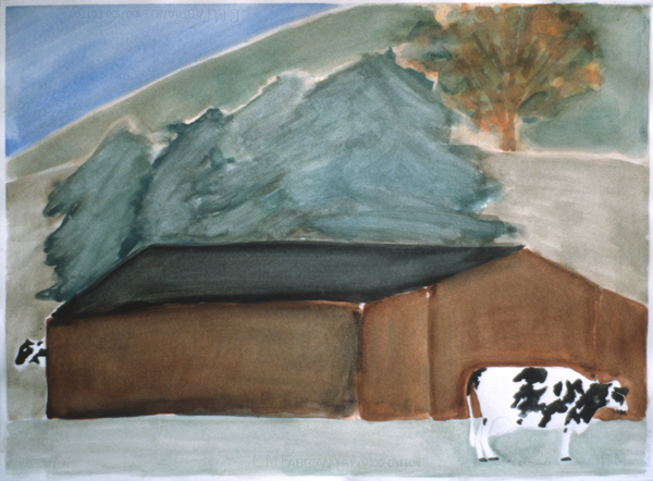 WORKS ON PAPER 1980-1990 Autumn Barn