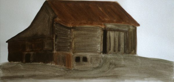 WORKS ON PAPER 1980-1990 Brown Barn