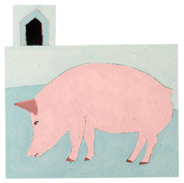 ANIMALS 1981-1988 Piglet (shaped painting)