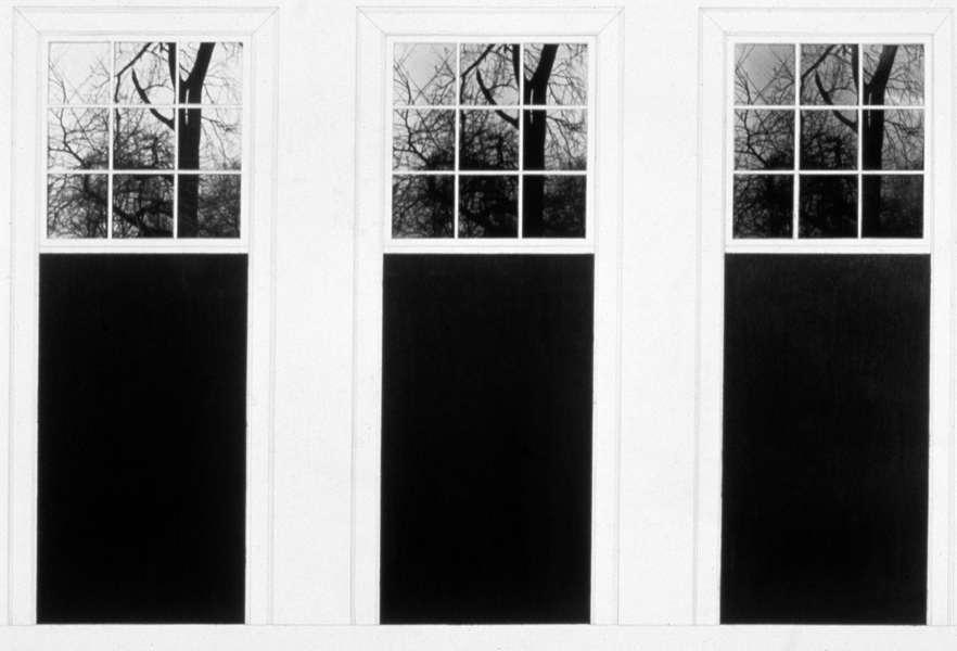 P. S.1:  (1976–1978) PHOTOGRAPHY/DRAWING/DIARY Three Doors, Three Windows