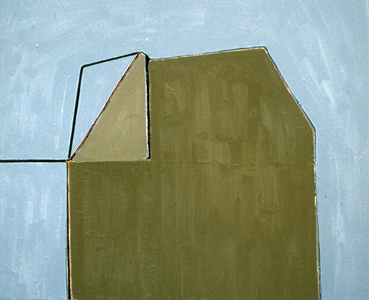 THE ABSTRACT IMAGE 1978-1988 Two Triangles (Beige Barn)