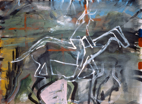 IRISH PAINTINGS 1992-1997 Red Cross Rider