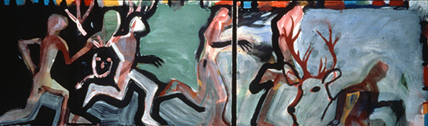 IRISH PAINTINGS 1992-1997 Tuan MacCairill and the Stag (diptych)