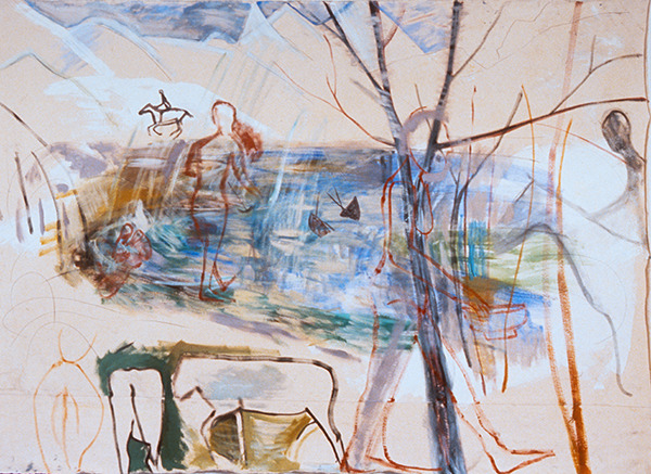 IRISH PAINTINGS 1992-1997 Landscape (with Cattle, Lake & Tree)