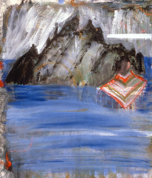 IRISH PAINTINGS 1992-1997 Skellig (with shawl)