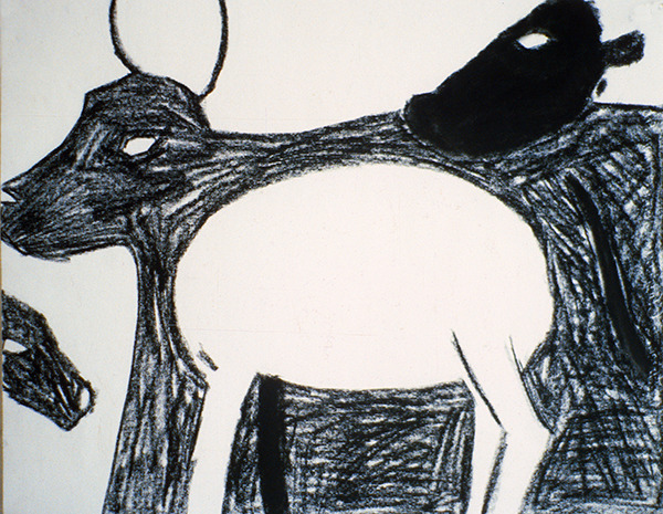 SIXTY-SIX DRAWINGS 1980's Cattle