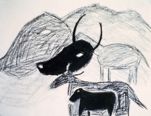 SIXTY-SIX DRAWINGS 1980's Animals & the Mountain