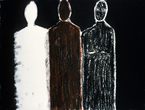 SIXTY-SIX DRAWINGS 1980's Three Figures