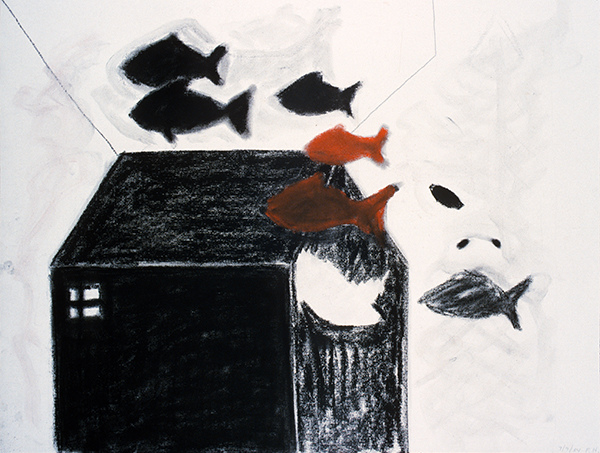 SIXTY-SIX DRAWINGS 1980's Fish House