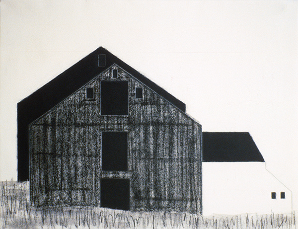 SIXTY-SIX DRAWINGS 1980's Barns, Austerlitz, NY I  (missing work) (Millay Colony for the Arts)
