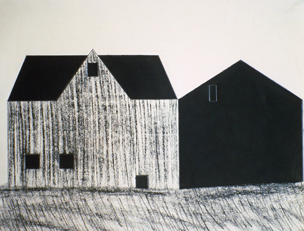 SIXTY-SIX DRAWINGS 1980's Barns, Austerlitz, NY II (missing work) (Millay Colony for the Arts)