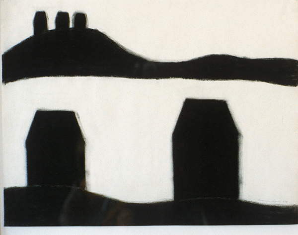 SIXTY-SIX DRAWINGS 1980's Double Hill Series: Five Houses