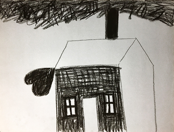 SIXTY-SIX DRAWINGS 1980's House & Heart
