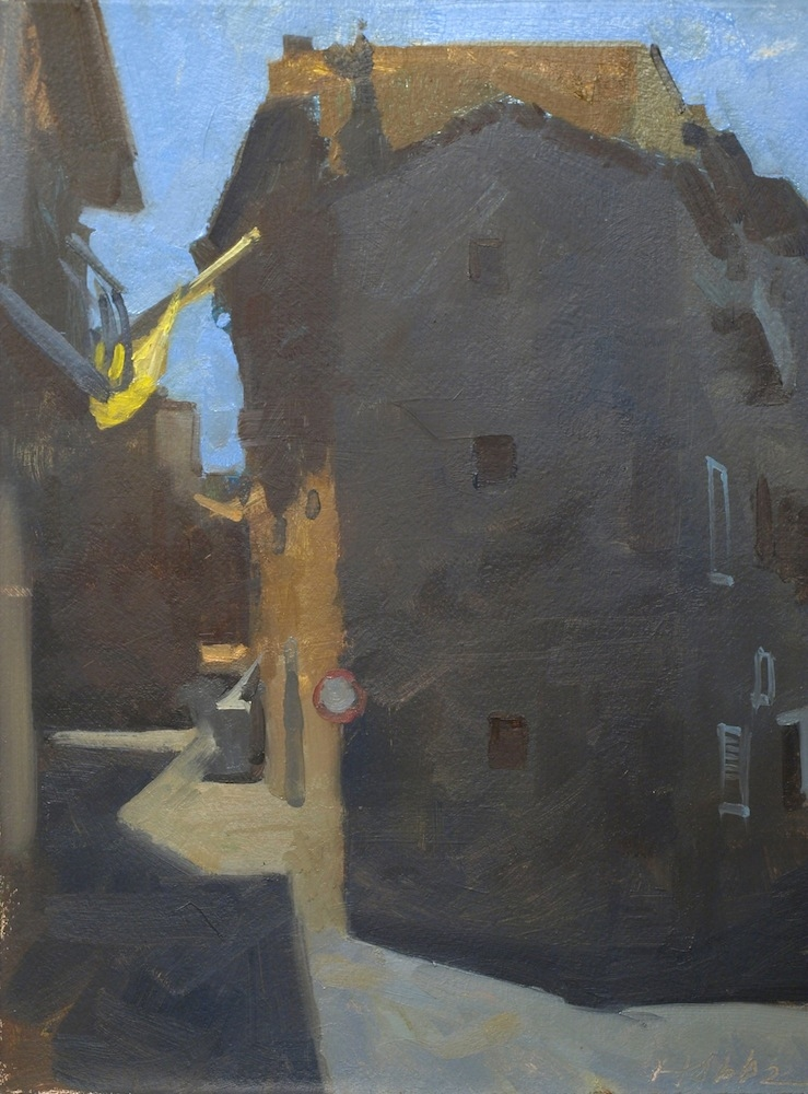 Frank Hobbs Paintings: Italy Oil on primed rag paper