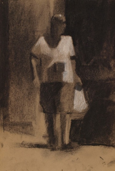 Frank Hobbs Drawings Charcoal, conte, on toned laid paper